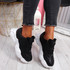 Evin Black Chunky Trainers