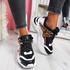 Livva Black Leopard Chunky Sneakers