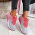 Paddo Grey Pink Fuchsia Trainers
