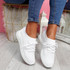 Mizze White Knit Sneakers