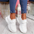 Pevvo White Chunky Knit Trainers