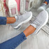 Pevvo Grey Chunky Knit Trainers