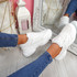 Malle White Sport Chunky Trainers