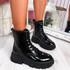 Fova Black Zip Ankle Boots