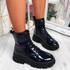 Fova Navy Zip Ankle Boots