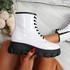 Fova White Zip Ankle Boots