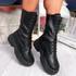 Yona Black High Top Biker Ankle Boots