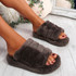 Onso Brown Fluffy Sliders