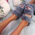 Lobi Dark Grey Fluffy Sandals