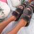 Lobi Brown Fluffy Sandals