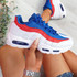 Nokka Blue Red White Chunky Trainers