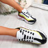 Nokka White Yellow Black Chunky Trainers