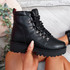 Hidda Black Lace Up Ankle Boots