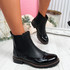 Hussa Black Oxford Chelsea Ankle Boots