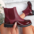 Hussa Wine Oxford Chelsea Ankle Boots