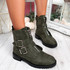 Munno Green Zip Ankle Boots