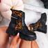 Mevva Black Leopard Ankle Boots