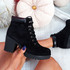 Lummy Black Lace Up Ankle Boots