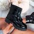 Loppa Black Patent Zip Ankle Boots