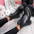 Loppa Black Pu Zip Ankle Boots