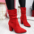 Bezza Red High Top Ankle Boots