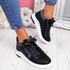 Kebbo Black Glitter Sneakers
