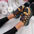 Denno Black Glitter Chunky Sneakers