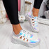 Denno Silver Glitter Chunky Sneakers