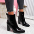 Gory Black High Block Heel Ankle Boots