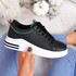 Huvy Black Lace Up Trainers