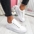 Dibby White Lace Up Trainers