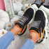 Miko Black Studded Chunky Trainers