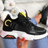 Loppo Black Knit Chunky Sneakers