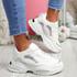 Nemy White Chunky Sneakers