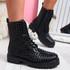 Hegy Black Spike Studs Ankle Boots