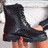 Hegy Black Spike Studs Ankle Boots