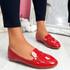 Revvy Red Patent Flat Ballerinas
