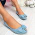 Libba Light Blue Bow Ballerinas