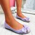 Libba Purple Bow Ballerinas