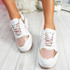 Grinna Pink Chunky Sneakers