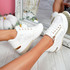 Joky White Wedge Trainers
