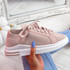 Havy Pink Lace Up Trainers