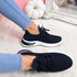 Bimma Navy Knit Trainers