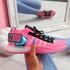 Jozzy Fuchsia Knit Sneakers