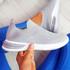 Fibba Grey Slip On Knit Sneakers