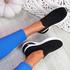 Fibba Black Slip On Knit Sneakers