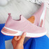 Fibba Pink Slip On Knit Sneakers