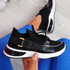 Irre Black Chunky Sport Trainers