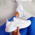 Laka White Knit Sport Trainers