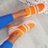 Jige Orange Mesh Sneakers